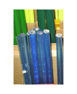 barre en acrylate XT bleu fluorescent transparent de section ronde - 6,00mm - 1000mm ( 104 138 )
