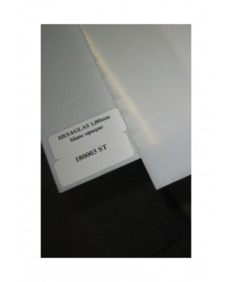 1 plaque en acrylate GS incolore transparent - 1,00 x 740 x 1000mm ( 104 189 )