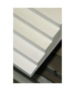 plaque en PVC expansé blanc opaque - 3,00 x 500 x 1000mm ( 106 105 )