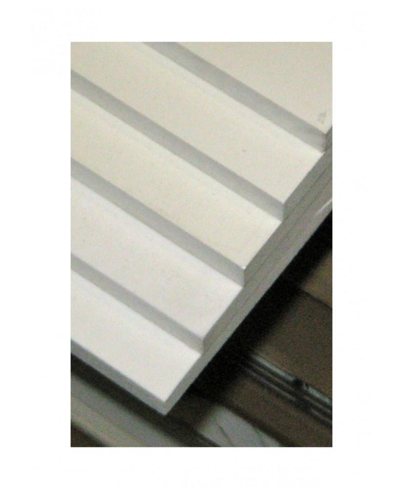 plaque en PVC expansé  blanc opaque - 5,00 x 500 x 1000mm ( 106 111 )