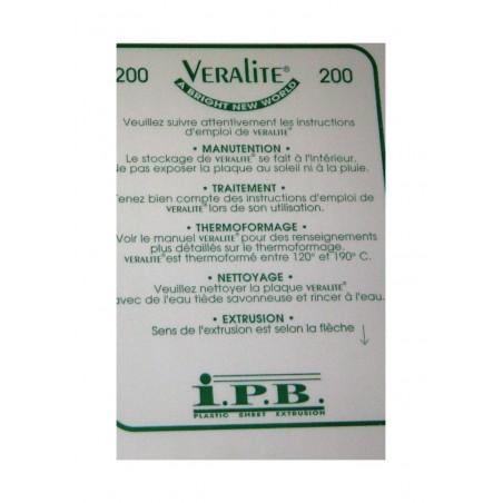 plaque en polyester incolore transparent - 0,75 x 500 x 1000mm ( 110 018 )