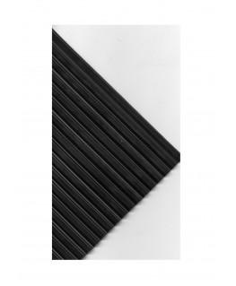 plaque en caoutchouc massif noir, 1 face lisse, 1 face ondulée  - 3,00 x 240 x 400mm ( 111 505 )