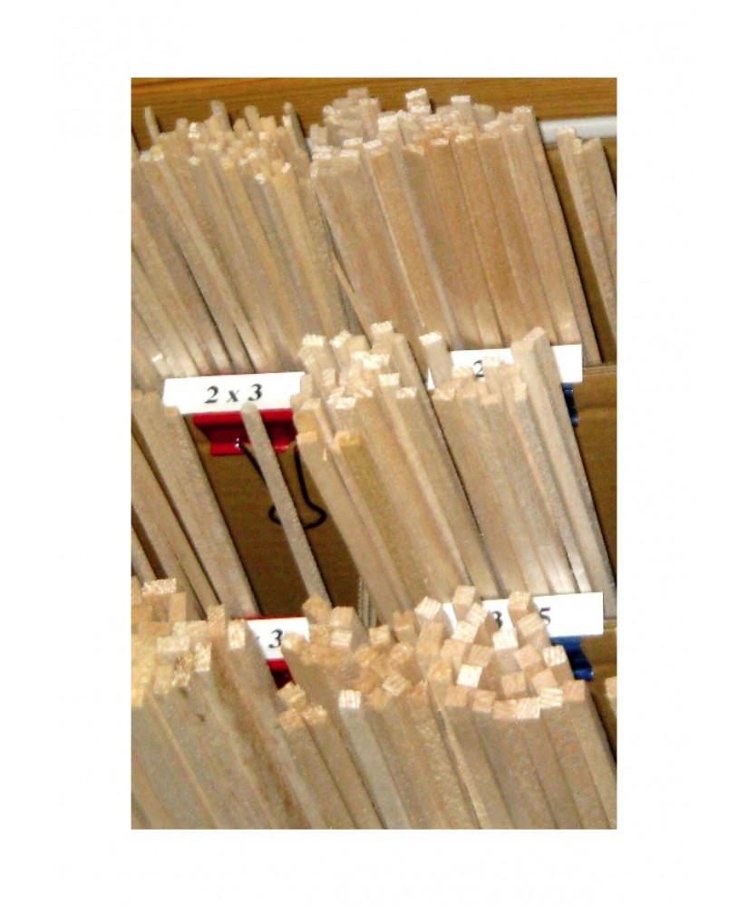 longeron en balsa de section rectangulaire - 5,00 x 8,00 x 1000mm ( 201 027 )