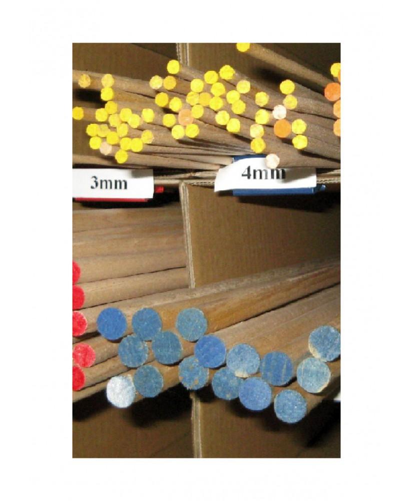 longeron en hêtre de section ronde - 5,00 x 1000mm ( 202 004 )