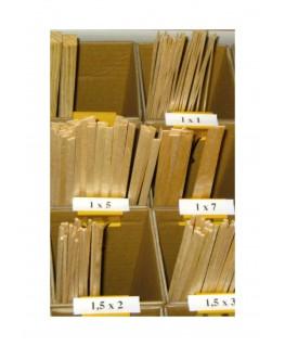 longeron en tilleul de section rectangulaire - 3,00 x 5,00 x 1000mm ( 204 011 )