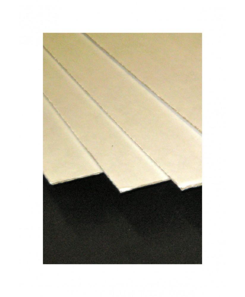 plaque en carton ondulé, 2 faces lisses - blanc/blanc - 1,50 - 700 x 1000mm ( 210 012 )