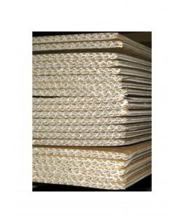 plaque en carton ondulé, 2 faces lisses - brun/brun - 6,00 - 700 x 1000mm ( 210 017 )