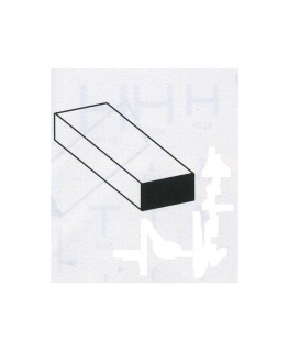 barre en aluminium de section rectangulaire - 2,00 x 6,00 x 1000mm ( 301061 )