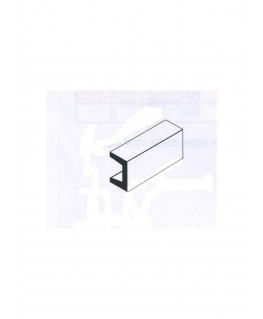 profilé en laiton de section en U  - 1,00/0,20mm - 1000,00mm ( 303049 )