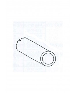 tube en aluminium de section ronde - 2,00/0,25 - 1000mm ( 301025 )