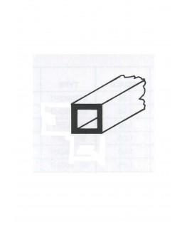 tube en laiton de section carrée - 4,00/0,35 - 1000mm ( 303095 )