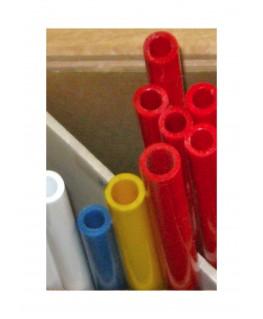 tube en butyrate de couleur P-()-012 de section ronde - diamètre 9,50mm ( 401422 )
