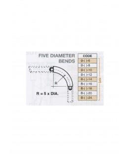 coude à 90° en butyrate de couleur B-()-006 - R 5 diam. - pour tube P-()-006 ( 401037 )