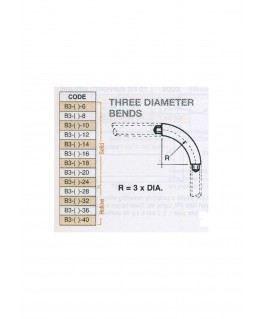 coude à 90° en butyrate de couleur B3-()-006 - R 3 diam. - pour tube P-()-006 ( 401046 )