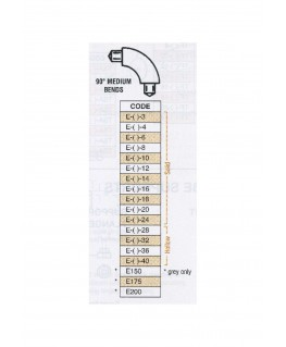 coude moyen à 90° en butyrate de couleur E-()-003 pour tube P-()-003 - 2,40mm ( 401145 )