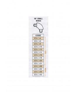 petit coude à 90° en butyrate de couleur ES-()-004 pour tube P-()-004 - 3,20mm ( 401180 )