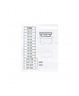 bouchon plat en ABS gris clair HC-012 pour tube P-()-012 - 9,50mm ( 401285 )