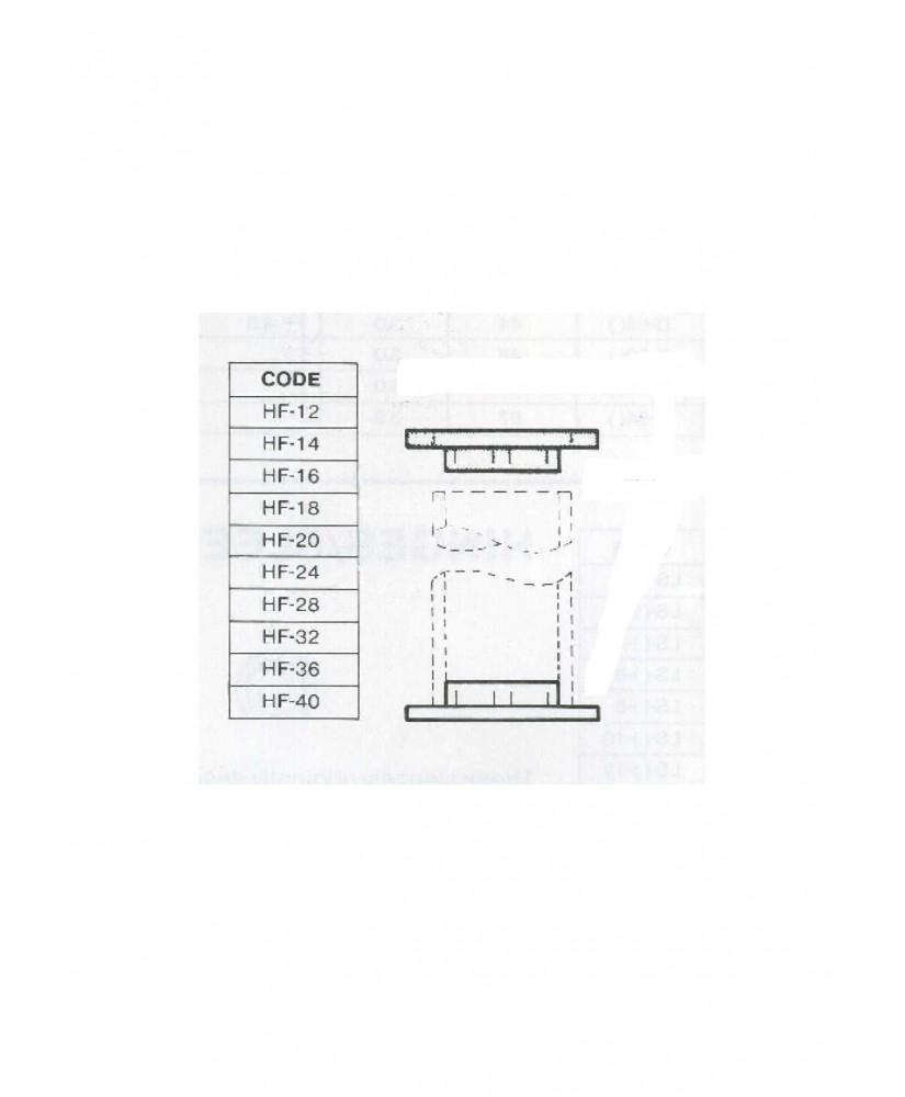 bouchon plat en ABS gris clair HF-012 avec rebord pour tube P-()-012 - 9,50mm ( 401324 )