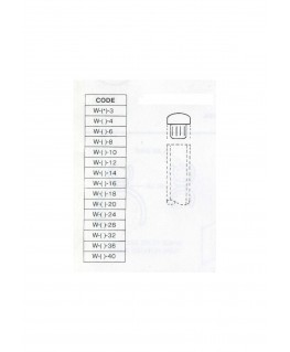 bouchon arrondi en butyrate de couleur W-()-006 pour tube P-()-006 ( 401988 )