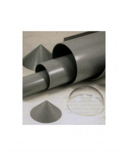 tube en ABS gris VT-0400 de section ronde - 101,60 x 910,00mm ( 402939 )
