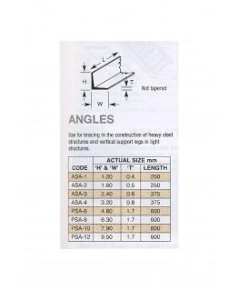 profilé en ABS gris foncé PSA-06 de section en L - 4,80 x 4,80 x 610,00mm ( 403011 )