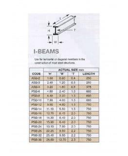 profilé en ABS gris foncé PSB-06 de section en I - 2,40 x 4,80 x 610,00mm ( 403036 )