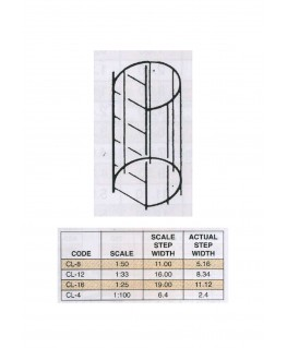 échelle à cage en ABS gris foncé CL-08 - 11,00mm - 304,00mm - échelle : 1/50 ( 403760 )