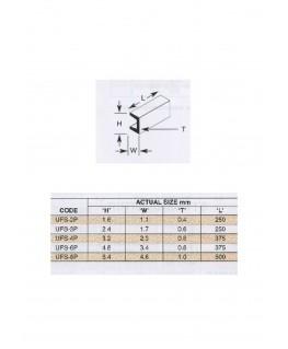 10 profilés en polystyrène blanc (UFS-03P) de section en U - 2,40 x 2,40 x 250mm ( 501288 )