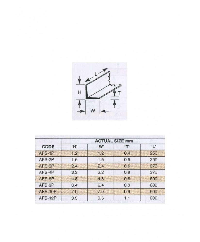 10 profilés en polystyrène blanc (AFS-02P) de section en L  - 1,60 x 1,60 x 250mm ( 501010 )