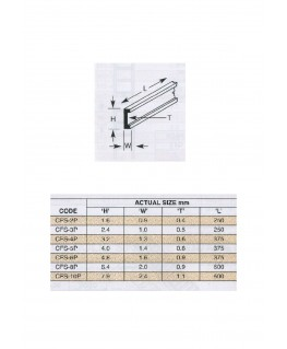 5 profilés en polystyrène blanc (CFS-06P) de section en C - 4,80 x 1,60 x 375mm ( 501059 )
