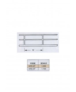2 rambardes droites en polystyrène blanc (HRS-04P) - 150mm - échelle : 1/100 ( 501082 )