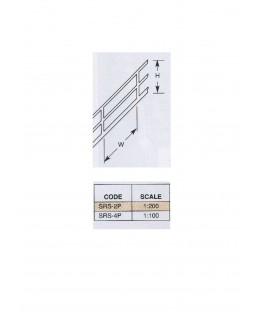 2 rampes obliques en polystyrène blanc (SRS-04P) - 150mm- échelle : 1/100 ( 501216 )