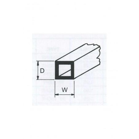 tube en ABS gris clair (ST-04P) de section carrée - 3,20 x 3,20 x 380mm ( 501242 )