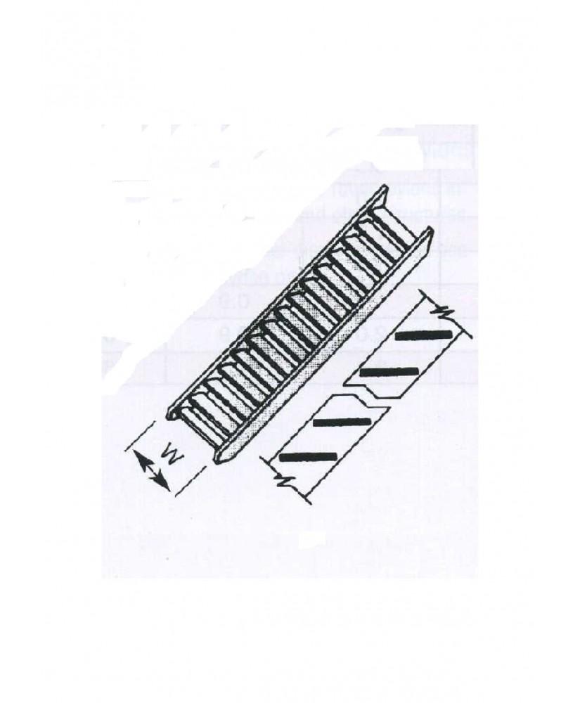 escalier claire-voie en ABS gris foncé (STA-04P) - 152,40mm- 1/100 ( 501247 )