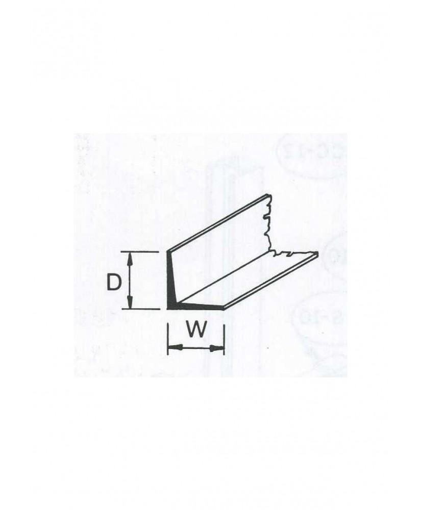 profilé en ABS gris foncé (A-03P) de section en L - 2,40 x 2,40 x 380mm ( 501003 )