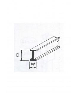 profilé en ABS gris foncé (B-06P) de section en I - 4,80 x 2,40 x 610mm ( 501021 )