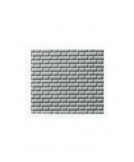 pan de mur de briques ( porteur ) en polystyrène gaufré gris - 0,50 x 175 x 300mm - échelle : 1/100 ( 601003 )
