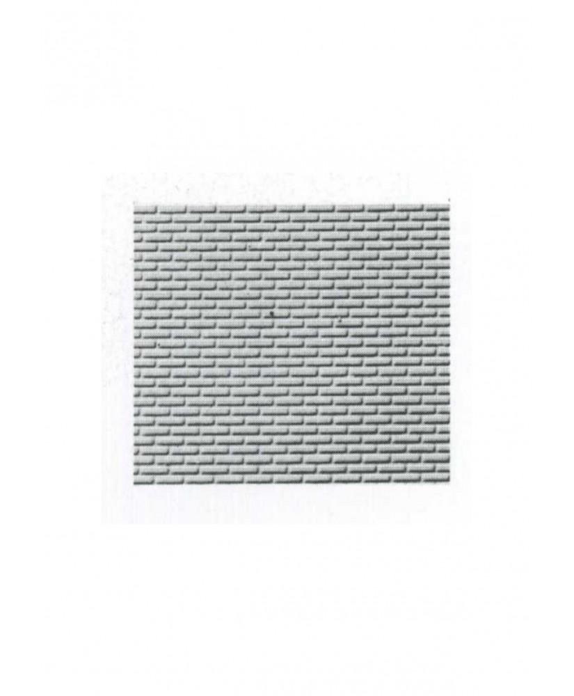 pan de mur de briques ( parement ) en polystyrène gaufré gris - 0,50 x 175 x 300mm - échelle : 1/100 ( 601007 )