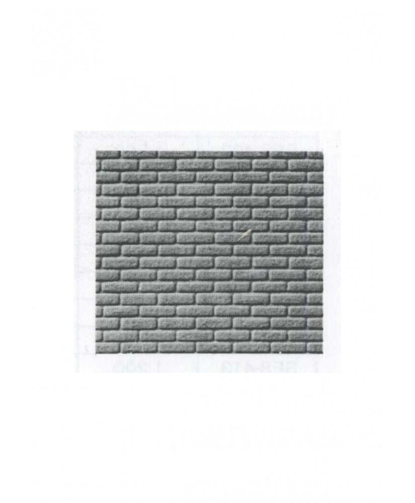 pan de mur de briques ( parement ) en polystyrène gaufré gris - 0,50 x 175 x 300mm - échelle : 1/50 ( 601009 )