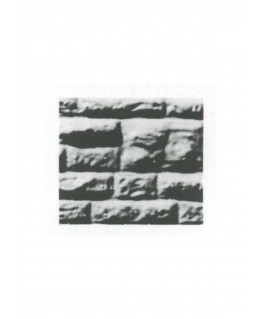 pan de mur de moellons irréguliers en polystyrène thermoformé gris - 0,50 x 175 x 300mm - échelle : 1/50 ( 601014 )