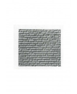 pan de mur de pierres irrégulières en polystyrène gaufré gris - 0,50 x 175 x 300mm - échelle : 1/100 ( 601012 )
