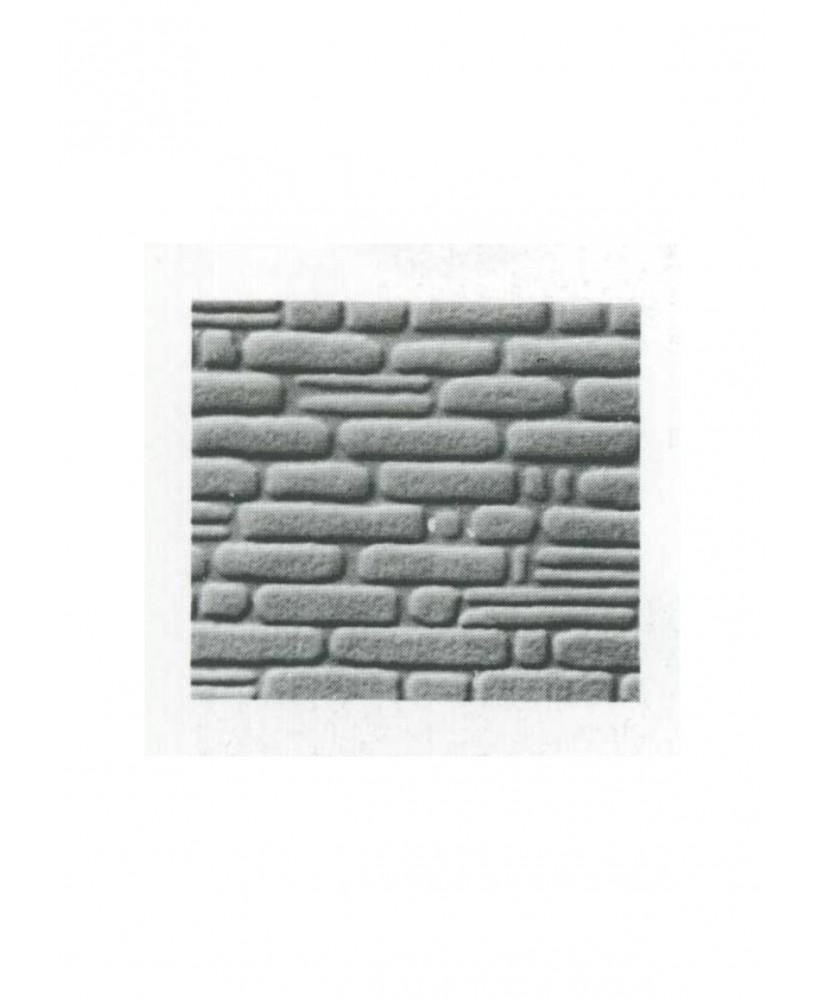pan de mur de pierres irrégulières en polystyrène gaufré gris - 0,50 x 175 x 300mm - échelle : 1/50 ( 601013 )