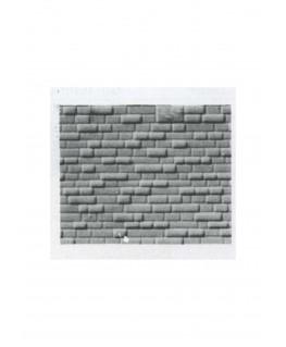 pan de mur de pierres régulières en polystyrène gaufré gris - 0,50 x 175 x 300mm - échelle : 1/100 ( 601015 )