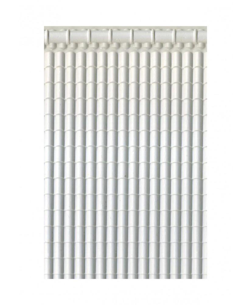 pan de toiture en tuiles romaines avec faîtière en polystyrène gaufré blanc - 0,50 x 190 x 290mm - échelle : 1/50 ( 602042 )