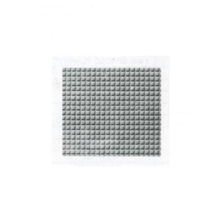plaque de sol carrelé en polystyrène gaufré - couleur(s) : gris - 0,50 x 175 x 300mm - échelle : 1/100 ( 603012 )