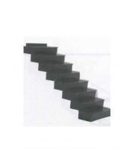 escalier de 15 marches à 34° en polystyrène blanc moulé - échelle : 1/50 ( 604009 )