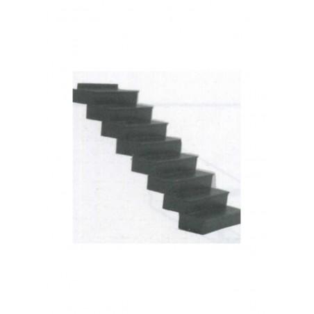 escalier de 15 marches à 34° en polystyrène blanc moulé - échelle : 1/25 ( 604010 )