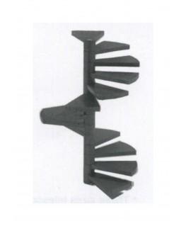 escalier en colimaçon de 15 marches en polystyrène blanc moulé - échelle : 1/25 ( 604020 )