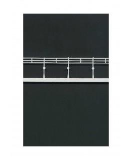 2 garde-corps à barreaux horizontaux en polystyrène blanc moulé - échelle : 1/200 ( 604023 )