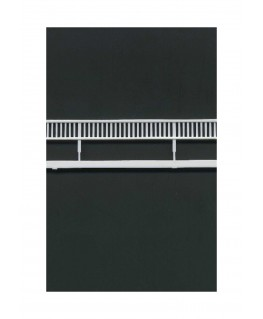 2 garde-corps à barreaux verticaux en polystyrène blanc moulé - échelle : 1/100 ( 604024 )
